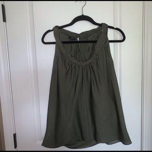 Talbots green sleeveless blouse